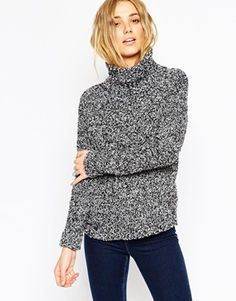 ASOS Chunky Sweater With High Neck In Boucle
