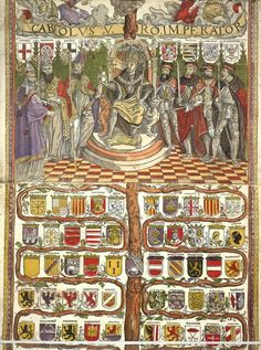 Holy Roman Emperor Charles V died in 1558. Here's his family tree