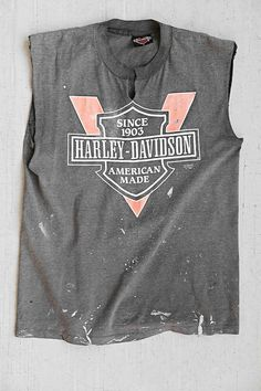 Vintage Harley Davidson Muscle Tee - Urban Outfitters You May Also Like What's HOT Love Vintage, Vintage Tee Shirts, Mein Style, Muscle Tees, Cool T Shirts, Vintage Outfits, Shirt Designs, Summer Outfits, Graphic Tees