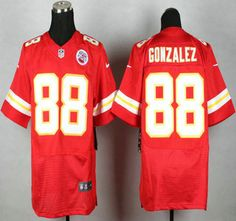 Nike Kansas City Chiefs Jersey 88 Tony Gonzalez Red Elite Jerseys