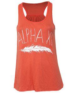 Alpha Xi Delta Quill tank from Adam Block Design - a licensed vendor!
