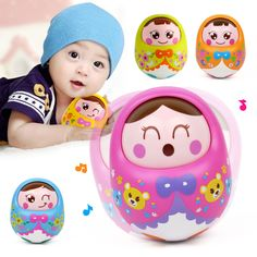 Huile Nodding Tumbler Doll Baby Cute Cartoon Musical Rattles Bell Roly Poly Early Education Fun Toys Brinquedos For Children ** Shop now for Xmas. Click the image for detailed description on  AliExpress.com. #holidaydecorchristmas