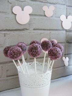 Cake Pops from a Minnie Mouse Birthday Party via Kara's Party Ideas | KarasPartyIdeas.com (9)