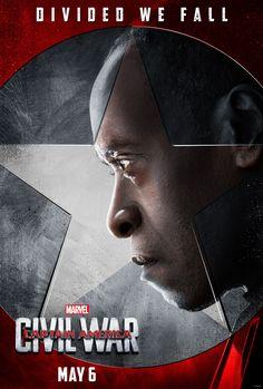 Affiche du film Captain America civil war de 2016 team iron man