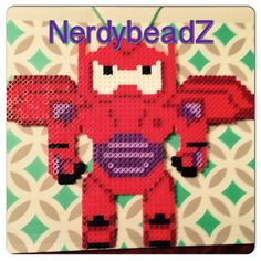 Baymax - Big Hero 6 original perler design by nerdybeadz