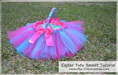 Easter Tutu Basket  {Tutorials}    I get several emails every year asking how to make an Easter Tutu Basket. You may remember {this Easter T...