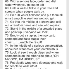 100 Crazy Things To Do With Your Best Friend! - Prank - Prank meme - - 100 Crazy Things To Do With Your Best Friend! The post 100 Crazy Things To Do With Your Best Friend! appeared first on Gag Dad. Crazy Things To Do With Friends, Things To Do At A Sleepover, Fun Sleepover Ideas, 100 Things To Do, Sleepover Party, Slumber Parties, Sleepover Pranks, Sleepover Games, Pajama Party