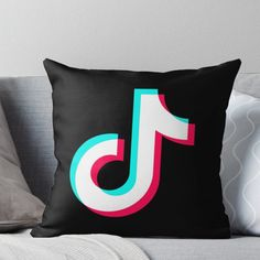 Super soft and durable spun polyester Throw pillow with double-sided print. Cover and filled options. Never miss with this Tiktok merch! Snapchat Logo, Diy Tumblr, Cute Pillows, Cute Comfy Outfits, Designer Throw Pillows, Pillow Design, Pattern Wallpaper, Tik Tok, Girly