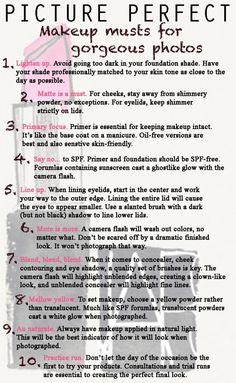 Some tips for being camera ready.