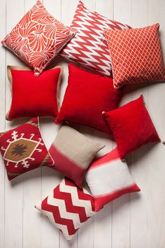 Will add a pop of red to my bedroom w red pillows!! Maybe 2
