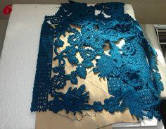 Ivelise Feito à Mão: Meus Trabalhos : Blusa Azul Petróleo