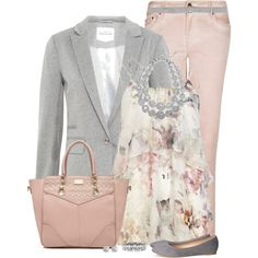 Pink & Gray, created by immacherry on Polyvore