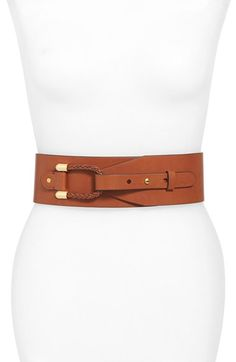 Lauren Ralph Lauren Braided Loop Wide Belt available at #Nordstrom