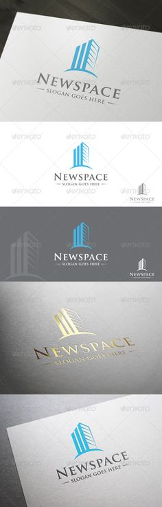 Newspace-Real Estate Company Logo Design Template Vector #logotype Download it here:  http://graphicriver.net/item/newspacereal-estate-company/7035232?s_rank=181?ref=nesto