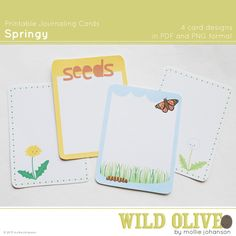 Springy Printable Journaling Cards