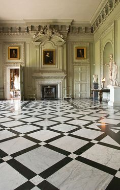 The Marble Hall at Petworth House in Sussex, England