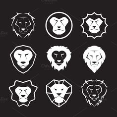 Vector group of an lion head design Graphics Vector group of an lion head design on black - Files Vector - Files JPEG 500 by Lion Icon, Cat Icon, Web Design, Design Art, Logo Design, Typography Logo, Art Logo, Logos, Leo Tattoos