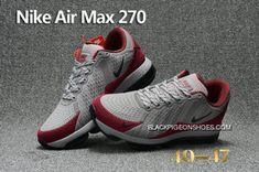 dbd7cbdb03b Free Shipping Nike Air Max Flair 270 Leather Gray Red Black Cheap Nike Air  Max