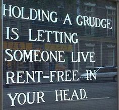 A sign in a window