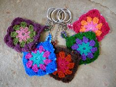 Key chains, 2 of them crochet together with beaded edges for $8.50 USD pick out your favorite color...I THINK IT COULD TURNED INTO A GREAT COIN PURSE, LINE IT, PUT IN A ZIPPER AND THEN U HAVE SOMETHING I CAN REALLY USE.