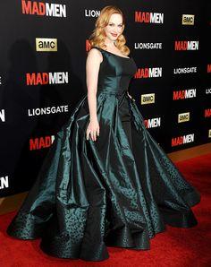 Christina Hendricks at the Mad Men Black & Red Ball on March 25, 2015.