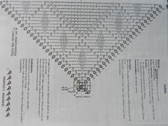 Crochet Motif, Crochet Shawl, Triangle, Diagram, Pattern, Image, Bedspreads, Squares, Invisible Stitch