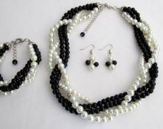ivory black pearl – Etsy