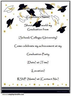 Ribbon graduation printable invitation template customize add free graduation invitation templates for word free graduation party invitation templates vertabox stopboris Choice Image