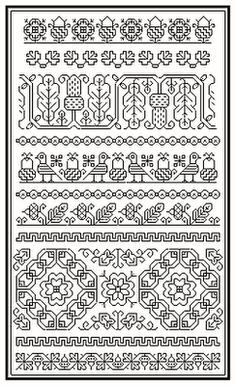 Brain Clutter: Blackwork pattern: Misc blackwork examples #4