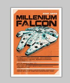 Millenium+Falcon+spaceship+alternative+by+goldenplanetprints