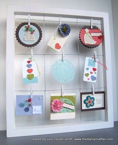 Cool, cool idea!  From Pier 1, need to go get one!!  Great for displaying my cards at Friday & Wednesday stamps!!