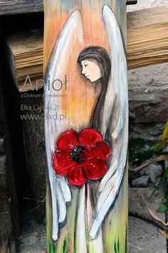 Anioł z Dobrym Przesłaniem | Anioł malowany na drewnie | http://www.3xd.pl/sklep/anioly/aniol-z-dobrym-przeslaniem/ | Elka Ciępka |  Anioł z Dobrym Przesłaniem – to Anioł ręcznie malowany na drewnie, będący wspaniałym prezentem praktycznie dla każdego. Bowiem dla każdego niesie pozytywne przesłanie i dobre życzenia. Taki Anioł będzie się dobrze czuł zarówno w domu, gdzie dobre życzenia są na porządku dziennym, jak i w miejscu, gdzie takich dobrych myśli i życzeń z reguły brak.