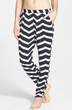 Chevron slouchy pants for movie night
