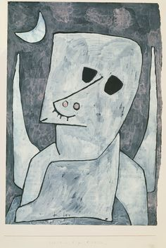 Paul Klee, Angel Applicant, 1939,  Gouache, ink, and pencil on paper