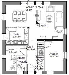 Einfamilienhaus Grundrisse - Haus Grundriss