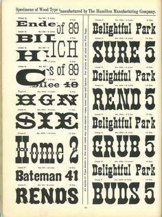 Hamilton Wood Type Catalog #14