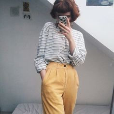 "14a210f989f LIBBY ✱ ✧ ☆ on Instagram  ""Sunshiny trousers  depop"""