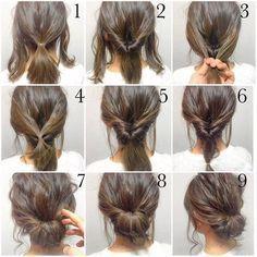 Afbeeldingsresultaat voor updo diy for medium length hair