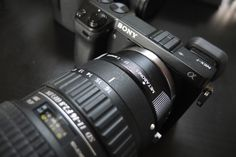 Canon EF lens adapter for the Sony NEX-7.