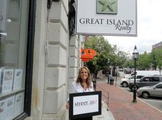 """""""Street.life! is going to be a great big dinner outside and an opportunity for business owners to come together at a community event!""""  Janet Sylvester,  Owner of Great Island Realty"""