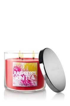 Raspberry Sun Tea Candles  Bath & Body Works