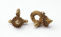 India | Gold earrings | ca. 1880, Maharashtra.