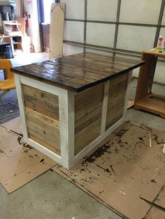 Kitchen Island made from 2x4s and pallets Check out the full project http://ift.tt/1UlLgar Don't Forget to Like Comment and Share! - http://ift.tt/1HQJd81