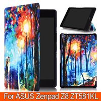 3 Folding Printing Fashion PU Leather Stand Cases Cover For Asus Zenpad Z8…