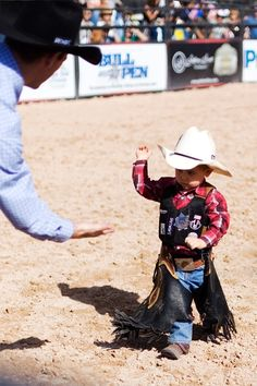 Okay this is SO cute. I love watching mutton busting. We bring the sheep to all the rodeo's in the area!  #baby #country #cowboy #kid