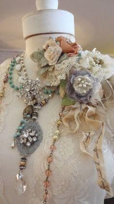 Mori Girl Brooch Hair Clips...All handmade, Bertha's Bloomers from Bertha Louise Designs....