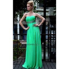 Duoliqi vestido de noche Realización de seda vestido de gasa en 3D... ($250) via Polyvore