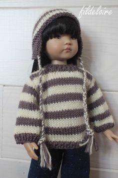 Tuto pour réaliser un pull pour les poupées Little darling 32 cm - http://fildeloire.canalblog.com/archives/2014/01/18/28976626.html