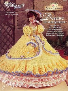 Denise of Albuquerque, Ladies of Fashion crochet patterns fit Barbie dolls