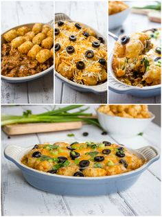Tater Tot Enchilada Bake I would replace the beef with beans. Mexican Food Recipes, Great Recipes, Favorite Recipes, Mexican Dishes, Family Recipes, Enchilada Bake, Potato Dishes, Beef Dishes, Dinner Dishes